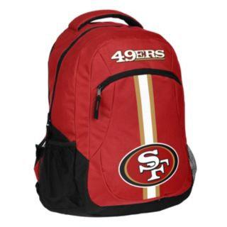 Forever Collectibles San Francisco 49ers Action Stripe Backpack