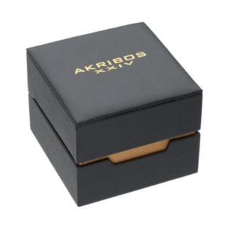 Akribos XXIV Men's Trek Leather Chronograph Watch
