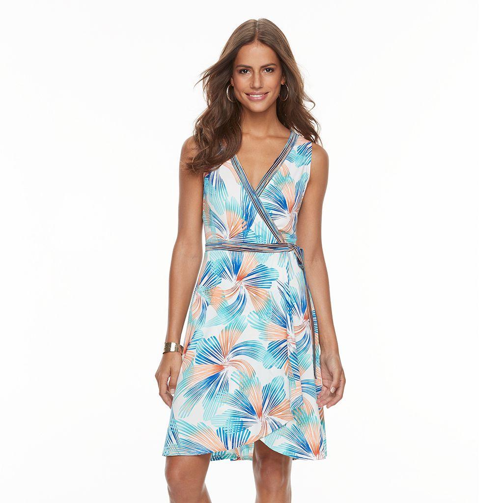 Women's Suite 7 Faux-Wrap Floral Dress