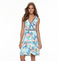 Women's Suite 7 Faux-Wrap Floral Dress