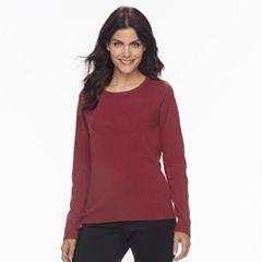 Petite Napa Valley Ribbed Crewneck Sweater