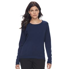 Petite Napa Valley Ribbed Crewneck Sweater