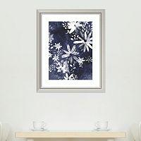 Amanti Art Indigo Floral Gesture II Framed Wall Art