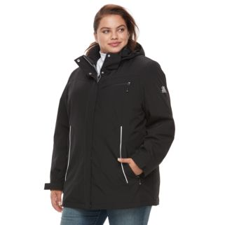 Plus Size ZeroXposur Darlene Hooded 3-in-1 Stretch Systems Jacket