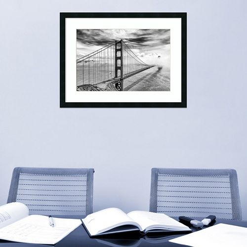 Amanti Art Into the Abyss Golden Gate Bridge Framed Wall Art