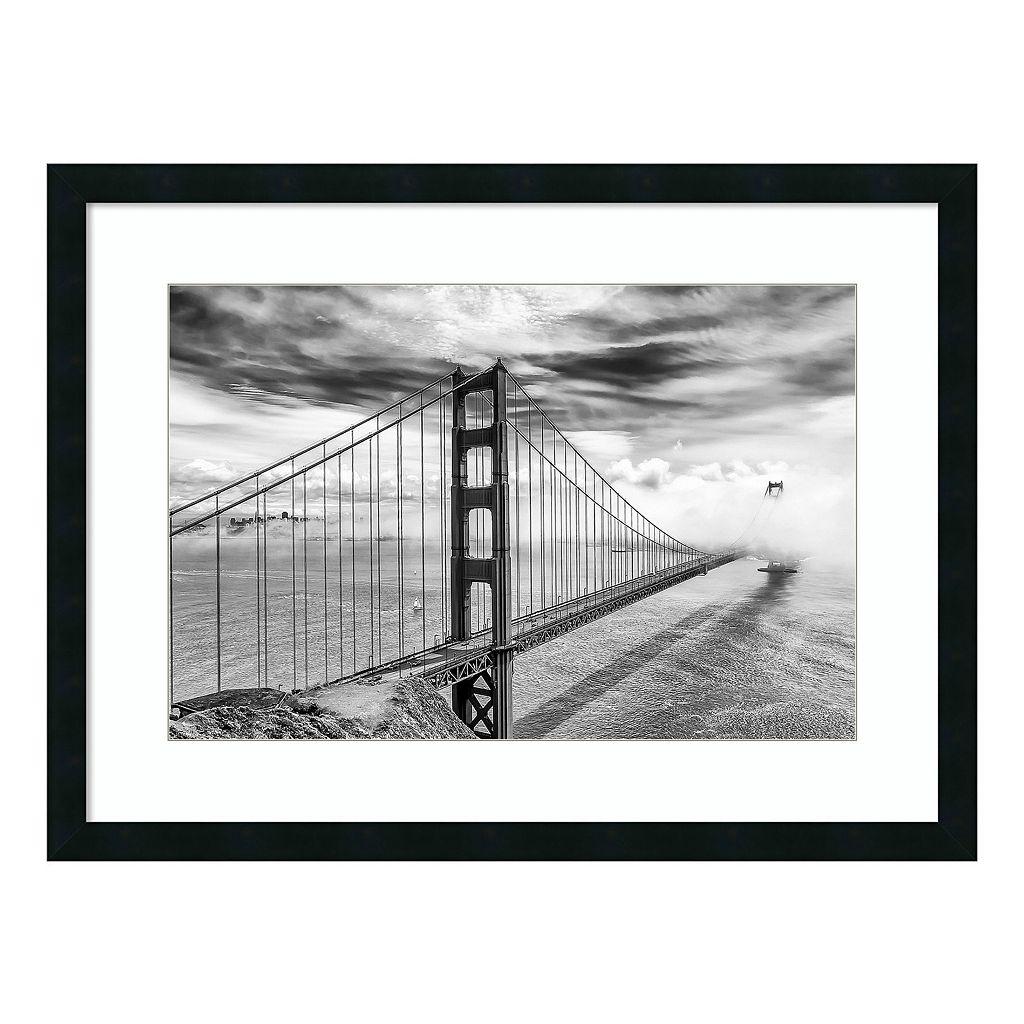 Amanti Art Into the Abyss Golden Gate Bridge Framed Wall Art