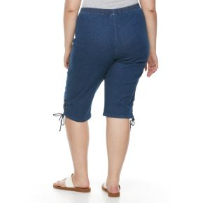 Plus Size Croft & Barrow® Lace-Up Skimmer Capris
