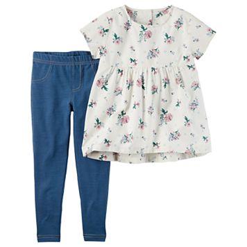 Girls 4-8 Carter's Floral Tunic & Jeggings Set