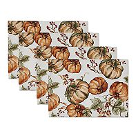 The Big One® Pumpkin Print Placemat 4-pk.