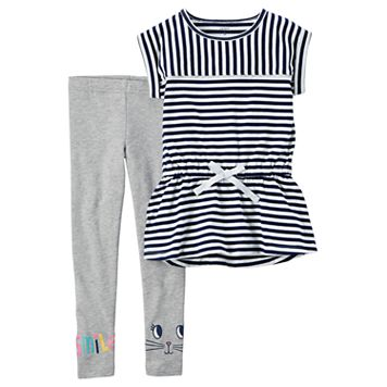 Girls 4-8 Carter's Striped Tunic & Leggings Set