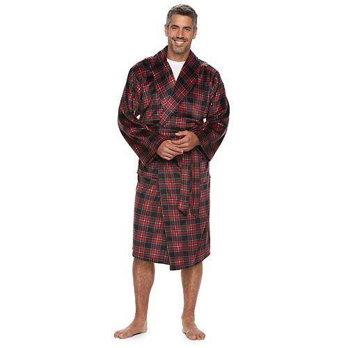 Men's Chaps Plaid Sueded Robe