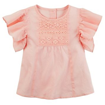 Girls 4-8 Carter's Flutter Lace Tee