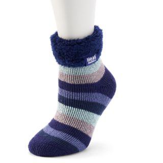 Women's Heat Holders Lounge Striped Gripper Ankle Socks