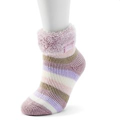 Women's Heat Holders Lounge Striped Gripper Ankle Socks