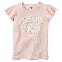 Girls 4-8 Carter's Lace Heart Tee