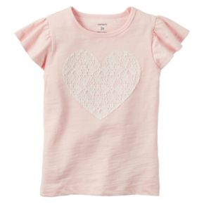 Girls 4-8 Carter's Lace Heart Tee