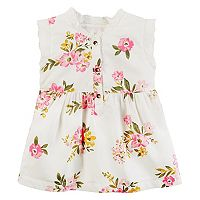 Girls 4-8 Carter's Floral Ruffle Neck Top