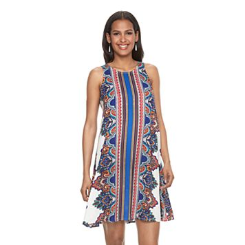 Women's MSK Paisley Striped Shift Dress