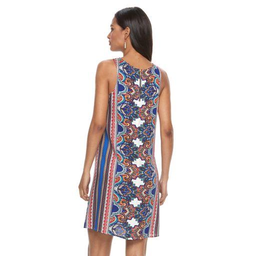 Women's MSK Paisley Striped Shift Dress