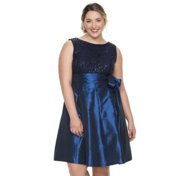 Plus Size Chaya Embellished Fit & Flare Dress