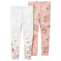 Girls 4-8 Carter's 2-pk. Floral Leggings