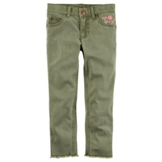 Girls 4-8 Carter's Olive Woven Pants