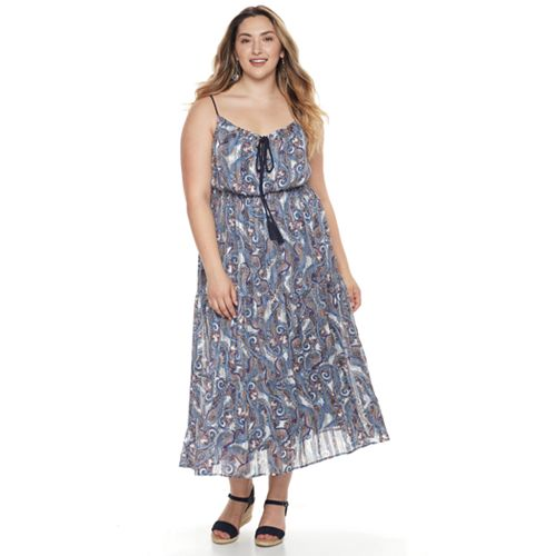Plus Size Chaya Paisley Chiffon Blouson Dress