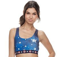 Juniors' Marvel Hero Elite Captain America Sports Bra by Her Universe