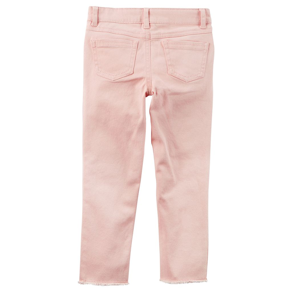 Girls 4-8 Carter's Embroidered Floral Pink Woven Pants