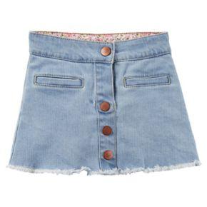 Girls 4-8 Carter's Denim Button-Front Skirt