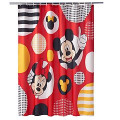 Disney's Mickey & Minnie Mouse Polka-Dot Shower Curtain