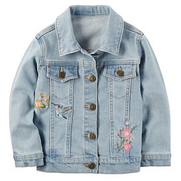 Girls 4-8 Carter's Embroidered Denim Jacket