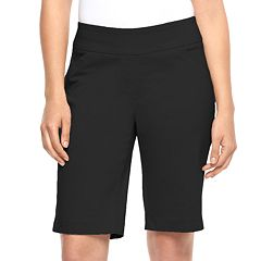 Women's Dana Buchman Midrise Pull-On Bermuda Shorts