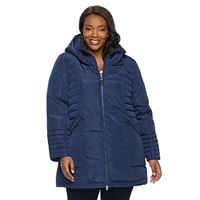 Plus Size ZeroXposur Jeanine Long Quilted Jacket