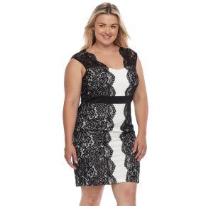 Plus Size Chaya Lace Sheath Dress