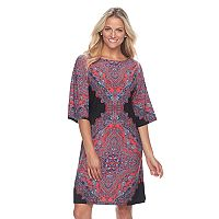 Women's Suite 7 Medallion Kimono Shift Dress