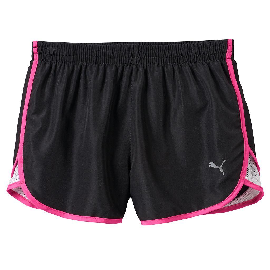 Girls 7-16 PUMA Mesh Piece Running Shorts