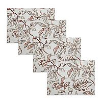 The Big One® Lace Leaves Placemat 4-pk.