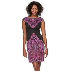 Women's Suite 7 Paisley Sheath Dress