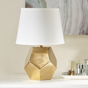 Madison Park Signature Faceted Gold Finish Table Lamp