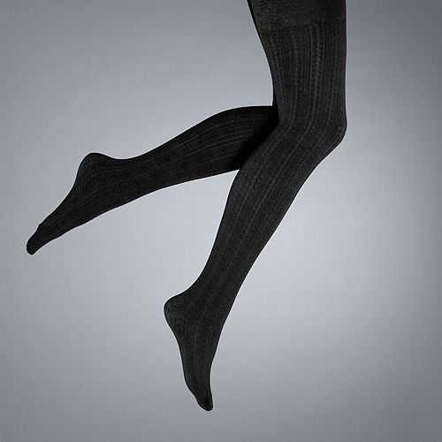 Simply Vera Vera Wang Cable-Knit Fleece-Lined Tights