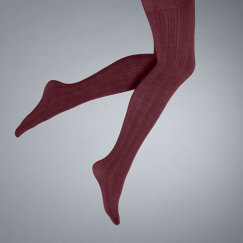 f1f41c362aeb0d Simply Vera Vera Wang Cable-Knit Fleece-Lined Tights