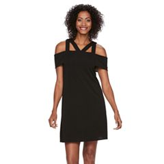 Women's Suite 7 Off-the-Shoulder Strappy Shift Dress