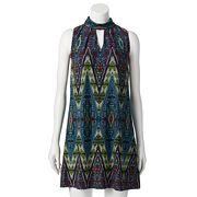 Women's Suite 7 Chevron Choker Neck Shift Dress