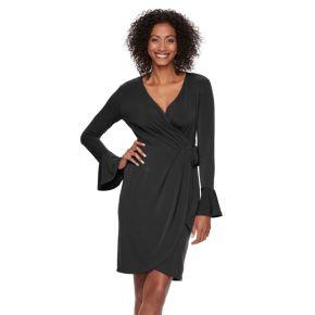 Women's Suite 7 Bell-Sleeve Faux Wrap Dress