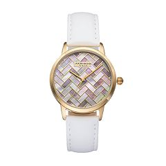 Akribos XXIV Women's Ornate Artistic Leather Watch