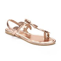 Candie's® Women's Floral Strap Toe Loop Sandals