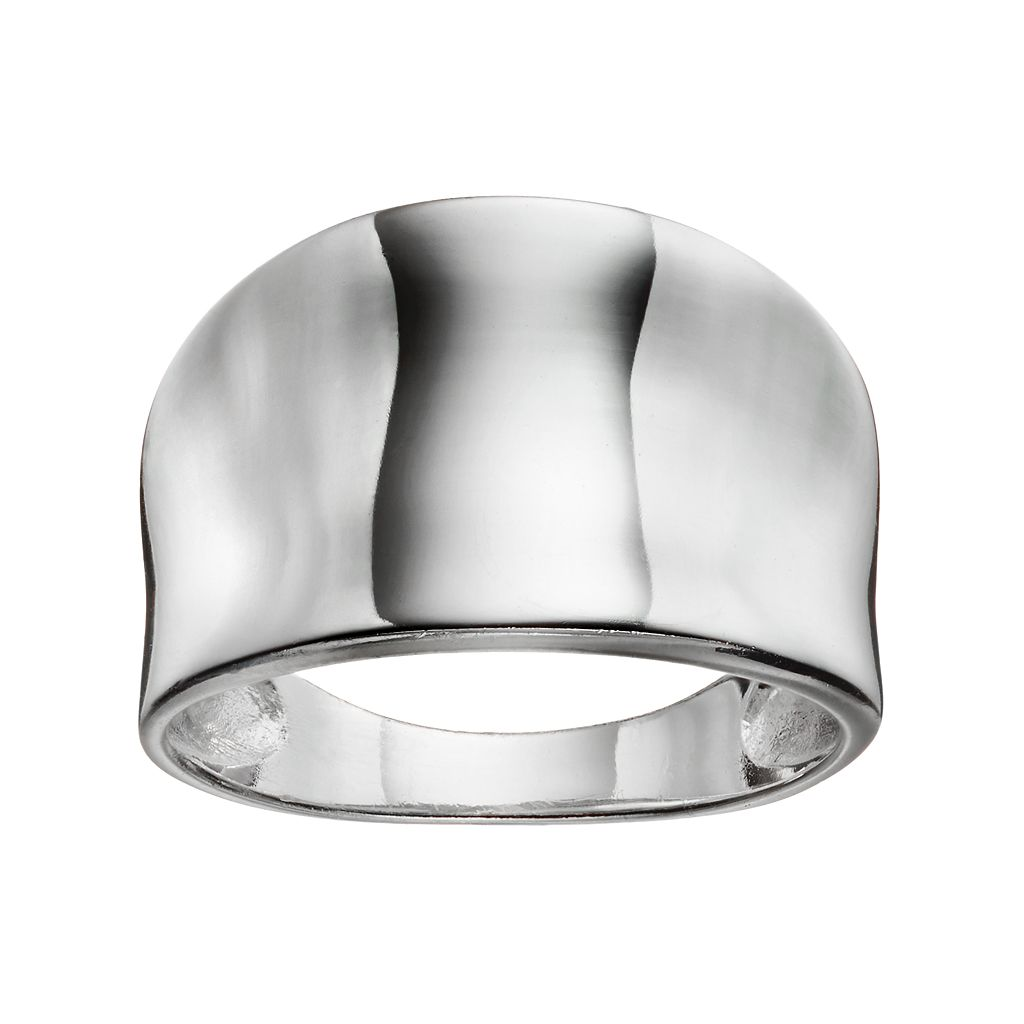 PRIMROSE Sterling Silver Cigar Band Ring