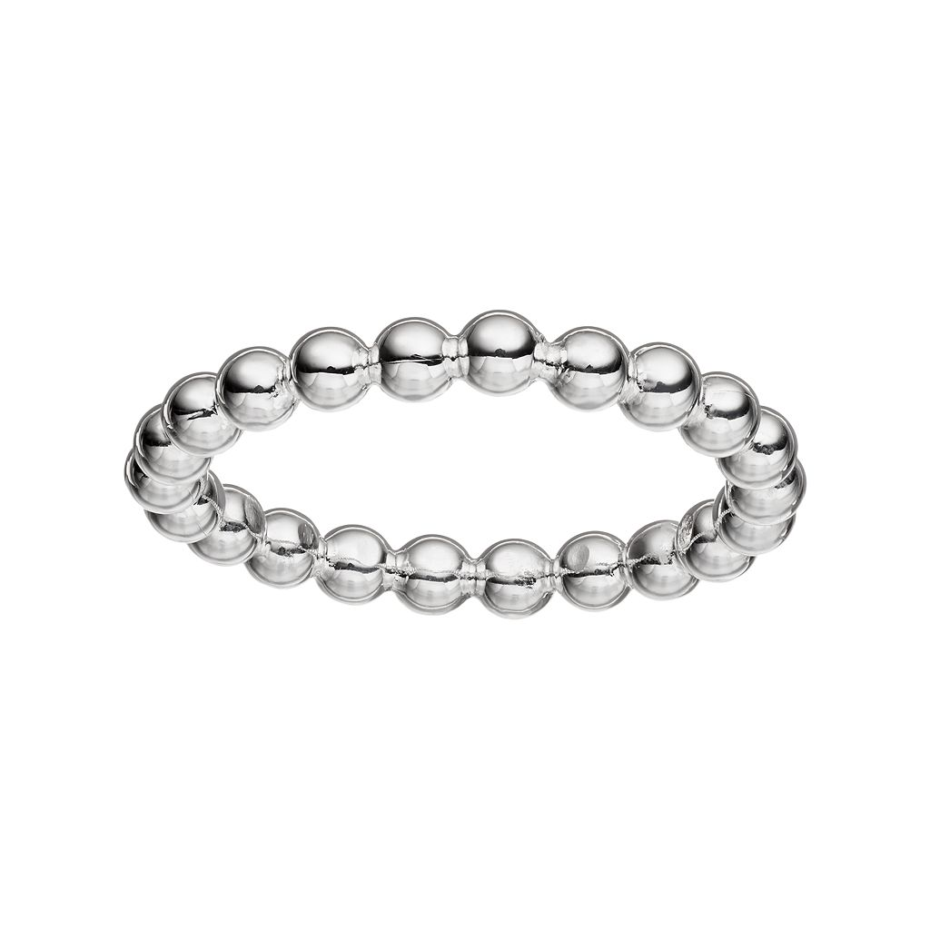 PRIMROSE Sterling Silver Beaded Ring