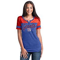 Women's 5th & Ocean by New Era New York Giants Burnout Football Tee